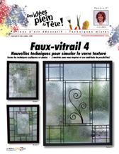 Vitrail la miroir vitrail 2de vitraux for Faux vitrail sur miroir